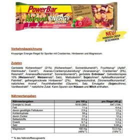 PowerBar Natural Energy Cereal Bar Box 24x40g, Raspberry Crisp